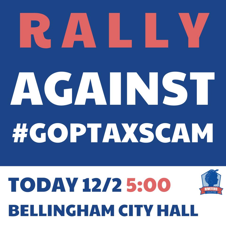 Rally on 2 December 2017, 5pm, Bellingham City Hall
